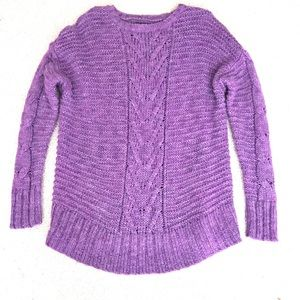 AMERICAN EAGLE OUTFITTERS XL Purple Cozy Sweater
